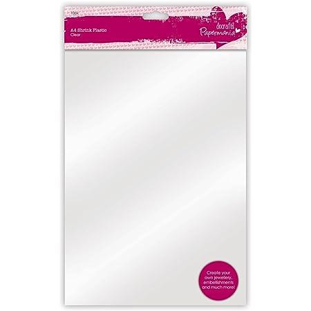 Papermania PMA 169206 A4 Feuille Rétractables en Plastique, 1 paquet de 10 feuilles
