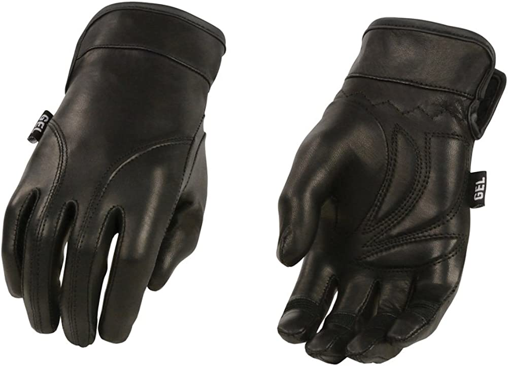 Leather Women's Lined Leather Driving Gloves With Gel Palms
