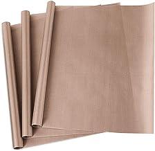 "3 Pack PTFE Teflon Sheet for Heat Press Transfer Sheet Non Stick 16 x 20"" Heat.."