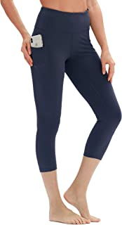 Yoga Pants for Women - High Waisted Workout Leggings with Pockets, Power Flex Athletic Capris Gym Exercise Tights