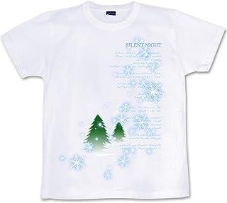 [GENJU] Tシャツ 氷 雪 スワロフスキー トナカイ ラインストーン クリスマス 結晶 背面無地版 メンズ キッズ