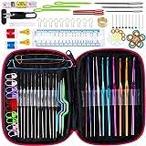 Kit de 100 agujas de tejer, accesorios ergonómicos, ganchos de ganchillo, juego de herramientas...