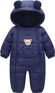 Toddler Cotton Romper Baby Winter Coat Zipper Long Sleeve Cute Baby Snowsuit