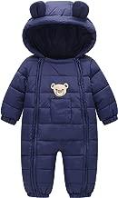 Happy Cherry Toddler Cotton Romper Baby Winter Coat Zipper Long Sleeve Cute Baby Snowsuit