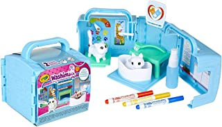 Crayola Scribble Scrubbie, Portable Vet Pet Play set, Kids, Includes 2 Pet Figurines; Colour & Clean Adorable Little Pets