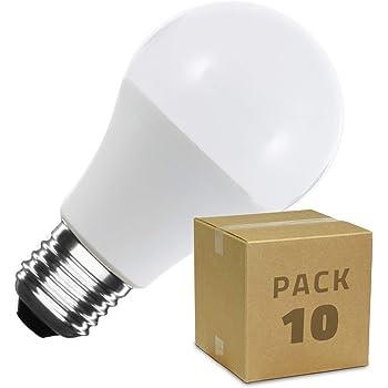 LEDKIA LIGHTING Pack Bombillas LED E27 Casquillo Gordo A60 12W (10 ...