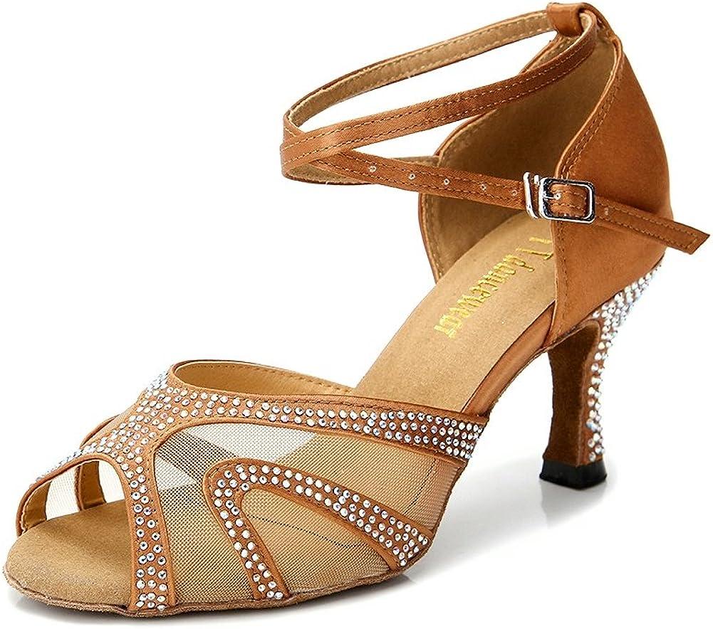 Limited price TTdancewear Max 83% OFF Rhinestones Ballroom Dance Shoes B Salsa Latin Women