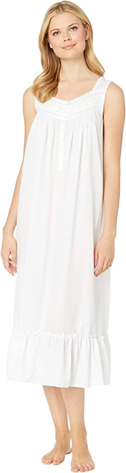 Cotton Woven Sheer Stripe Ballet Nightgown