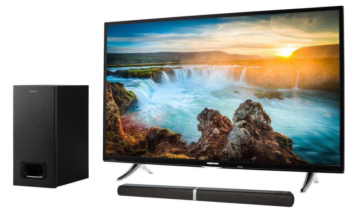 MEDION Life e64126 MD 80122 2.1 Bluetooth Barra de Sonido Life x17032 MD 31206 108 cm (43 Pulgadas UHD) televisor: Amazon.es: Electrónica