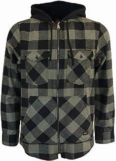 ROCK-IT Apparel® Camisa de Franela de Manga Larga de Hombre a Cuadros con Capucha Camisa de leñador Camisa de Cuadros Cami...