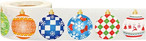 discount 500Pcs Christmas Ornament Roll Stickers - outlet online sale Cute Holiday Roll Sticker Christmas Themed Stickers online sale for Envelope Seals Scrapbooking Card Making Christmas Party Supplies online sale