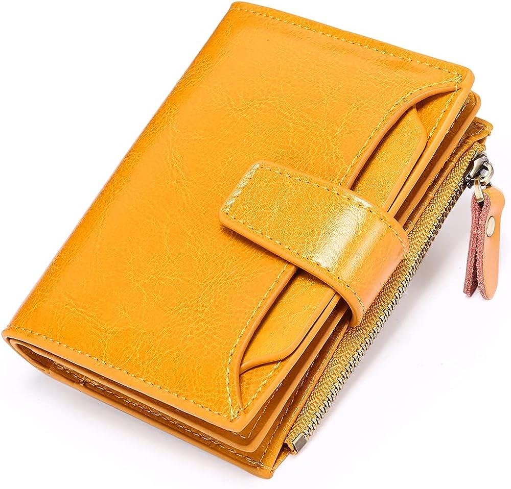 Sendefn, porta carte di credito, portafoglio da donna, protezione rfid, in vera pelle 5191C