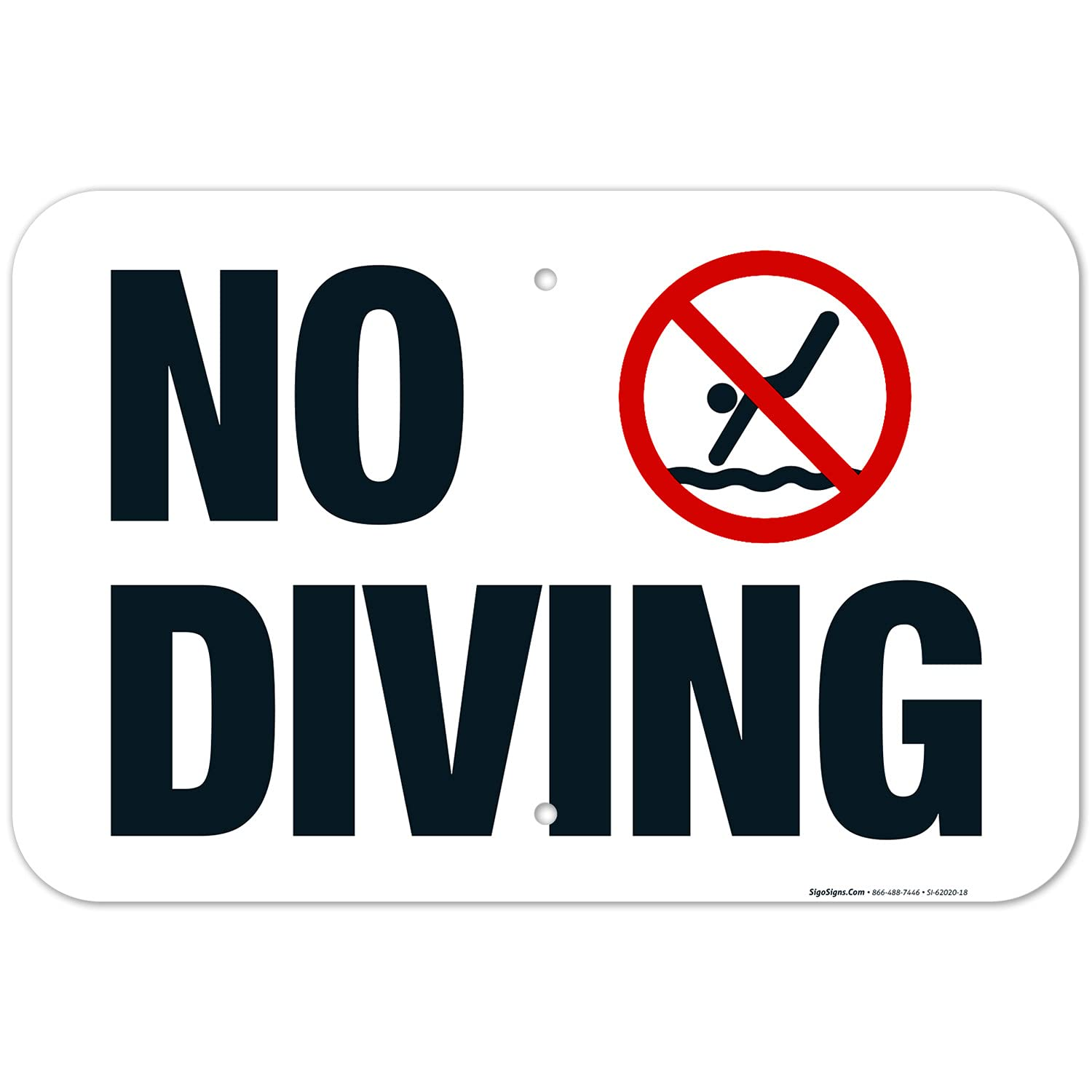 Indiana No Diving Sign Complies State Pool of with Safe online New arrival shopping