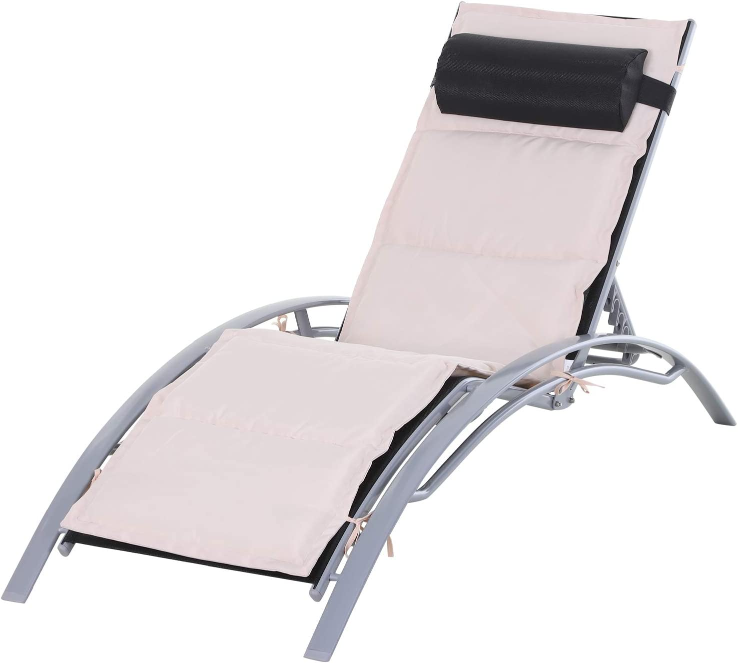 Outsunny Adjustable Lounge Chair