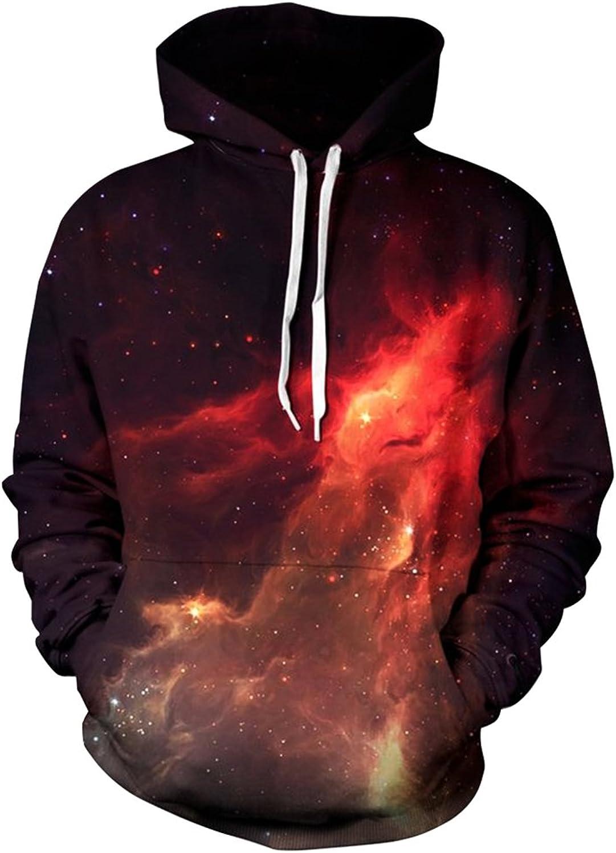 Imilan Galaxy Cosmic Animal Print Hoodie Sweatshirt