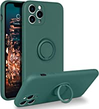"BENTOBEN iPhone 11 Pro Case, Slim Silicone 360° Ring Holder Kickstand Support Car Mount Microfiber Liner Shockproof Non-Slip Case for iPhone 11 Pro 5.8""-Midnight Green"