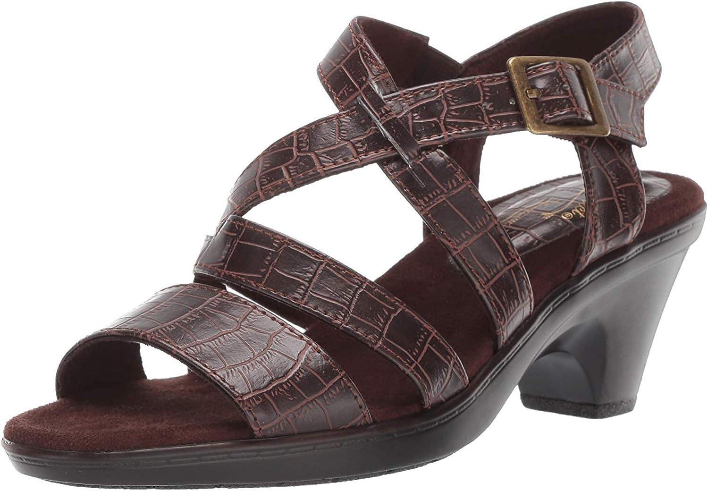 Easy Street Women's Gretchen by Easy Street dress casual sandal Sanda-red crocodile