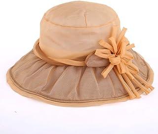 WN - Sombrero - Sombrero para el Sol Sombrero para el Sol de Verano Transpirable Confort Cool Sombrero UV Plegable Protección Solar Sombrero para el Sol (3 Colores) Sombrero para Mujer (Color : #1)