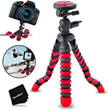 "12"" Inch Flexible Tripod with Quick Release Plate for Nikon D5500, D5300, D5200, D5100, D750, D7100, D7000, D810, D810A, D800, D610, D600, D3300, D3200, D3100, 1 V1, D4, D4S, D3, D3X, D3S DSLR Cameras."