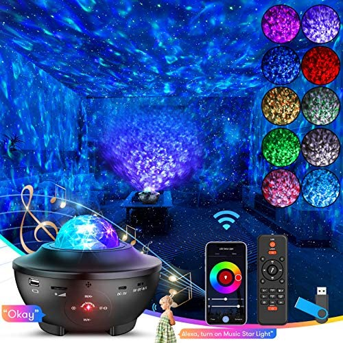 Star Night Light Projector Skylight with WiFi Smart App Alexa Google Assistant 4 in 1 Starry product image