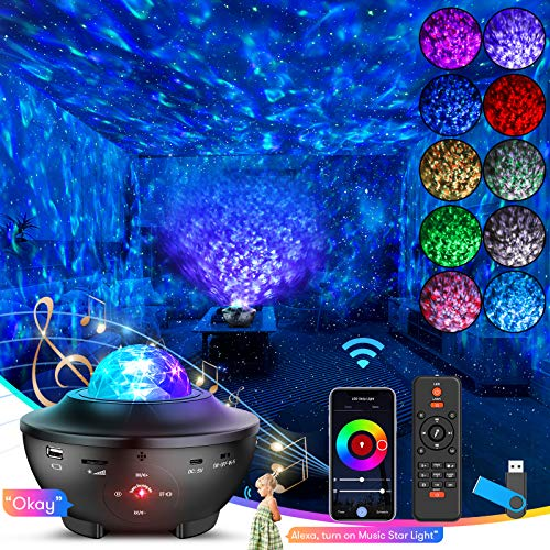 Star Night Light Projector-Skylight with WiFi Smart App, Alexa, Google Assistant, 4 in 1 Starry...