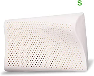 AOOK Natural Latex Pillow 100% Ventilated Foam Filler Contoured, 17.3x10.2x2-2.8 Inches, Standard Size