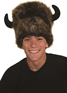 buffalo hat with horns