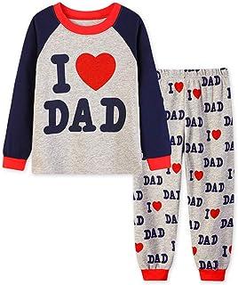 ce7a3b675 Hibote Pijamas para Niños Niñas Homewear Cute Familiares Manga Larga Cuello  Redondo Camisas + Pantalones 2