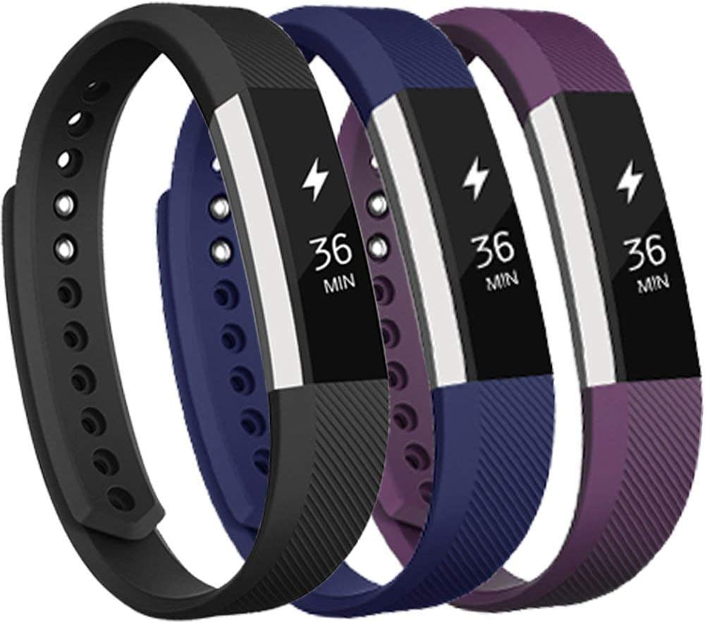 3 Pks Classic Accessory Band Replacement Wristband Compatible for Fitbit Alta HR and Alta Band (Small)