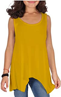 KHT Kids Hanky Top Summer Girls Size 2-14 Vest Hem Flared