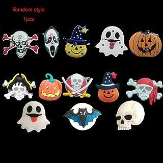 Kongqiabona Halloween LED Brosche Kinder Luminous Abzeichen Blinklicht Brosche Kürbis Geist Schädel Party Halloween Brosche Zubehör