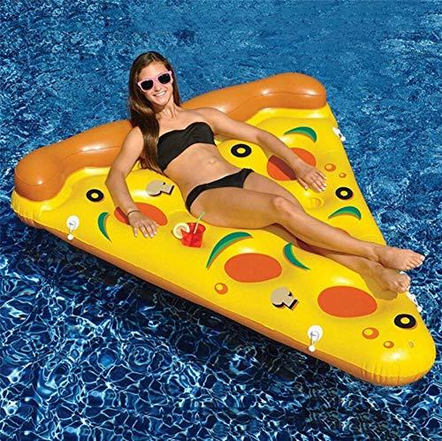 SXC Pizza Luftmatratze Aufblasbare Pizzastück Matratze XXL Badeinsel Schwimminsel Schwimmreifen 180x90cm
