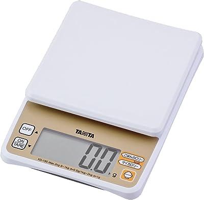 タニタ食堂おすすめ デジタルクッキングスケール 2kg(ごはんカロリーモード付き) ホワイト KD-195-WH