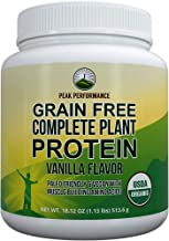 Organic Paleo Grain Free Plant Based Protein Powder Complete Raw Organic Vegan Protein Powder. Amazing Amino Acid Profile ...