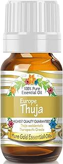 Pure Gold European Thuja Essential Oil, 100% Natural & Undiluted, 10ml