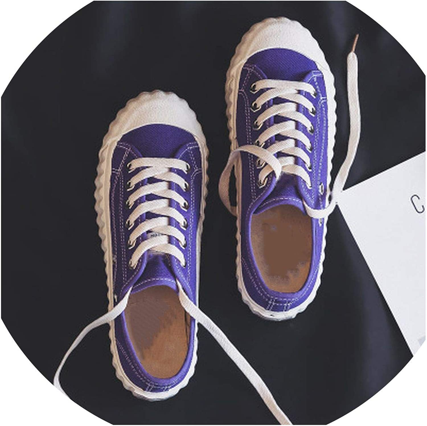 Women Sneakers Candy color Lady Stylish shoes Vulcanized Lace Up Flat Heel