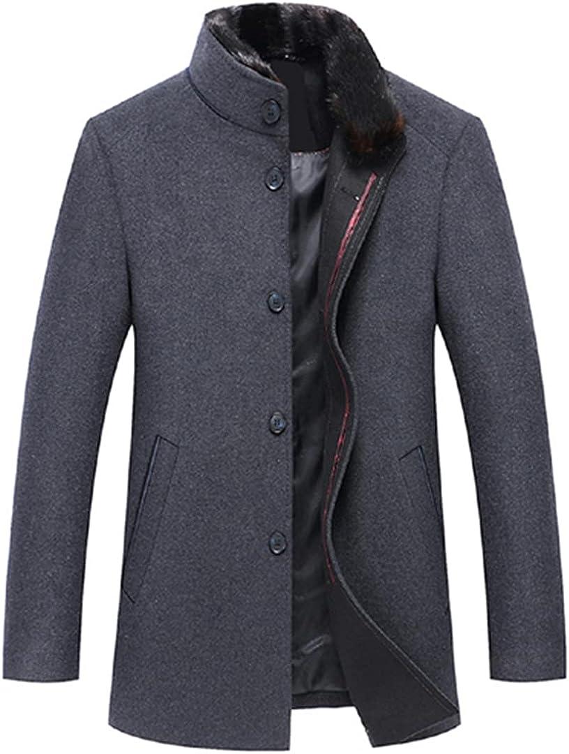 Men Wool Coats Casaco Masculino Single Button Mens Overcoat Windproof Men Cloths Slim Coats