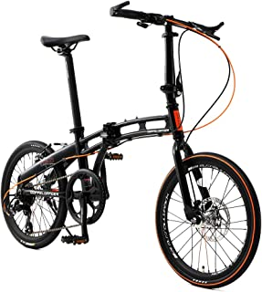 DOPPELGANGER(ドッペルギャンガー) 【 Blackmax シリーズ 】 ASSAULTPACK 20インチ 折りたたみ自転車 シマノ7段変速 アルミフレーム ブラック×OR 211-R-DP