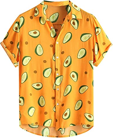 Camisa Estampado Aguacate Hombre, Dragon868 Vintage Camisa ...