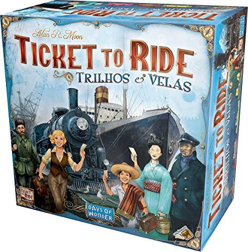 Ticket to Ride. Trilhos e Velas, Galápagos Jogos