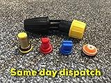 Spritzdüsen-Set für 10 mm Rucksack-Lanze, inkl. Filter, Deflektor, Lüfter, Hohlkegel