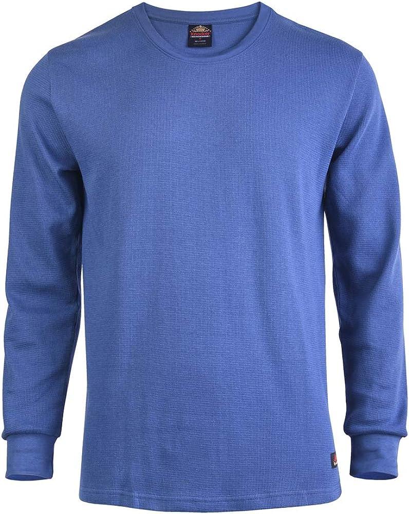 Mens Crew Neck Medium Weight Classic Cotton Thermal Top