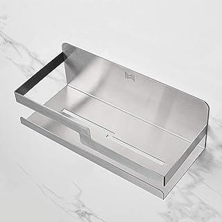 MW® Etagere salle de bain sans percage | Adhésive | 100% Inox | Etagere à épices | Porte éponge | Etagere douche | Rangeme...