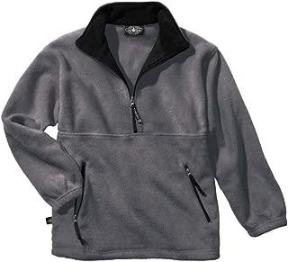 Charles River Men's Adirondack Fleece Pullover Charcoal / Black XS