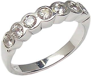 Gioielli Aurum - Anello fedina da donna in oro bianco 18 kt. con Diamante naturale