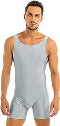 Justaucorps Homme Body de Sport Gym Danse Unitard