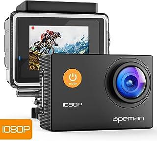APEMAN A66 アクションカメラ スポーツカメラ 30メートル防水 170度広角レンズ フルHD 1080P高画質 1050mAh電池