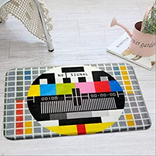 Area Rugs Carpets Modern Creative Tv Geometric Carpet Vintage Nostalgia Style Floor Doormat Thick Area Rugs Home Decor Liv...