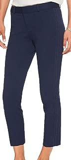 Banana Republic Women's Sloan Stretch Double Top Stitch Crop Pant, Navy