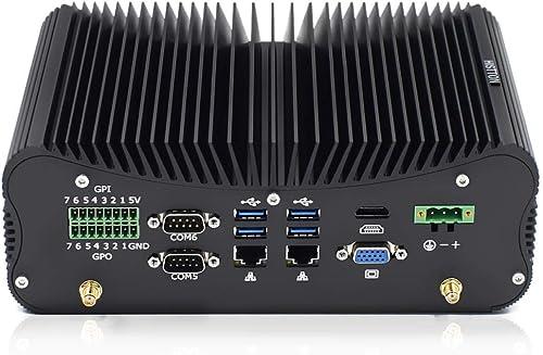 HISTTON Fanless Mini PC Industrial Mini Computer Windows 10 Pro, Intel Core i7-10510U DDR4 32GB RAM, 512GB SSD 14Pin ...